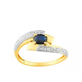 BAGUES COMPOSITION SAPHIR DIAMANTS