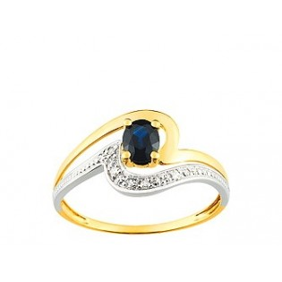 BAGUE COMPOSITION SAPHIR DIAMANTS