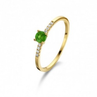 BAGUE COMPOSITION EMERAUDE DIAMANTS