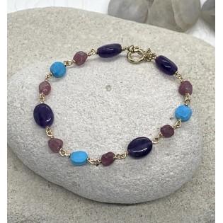 Bracelet pierres semi précieuse